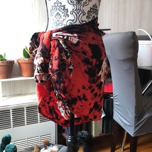 Red & Black Dolphins Sarong